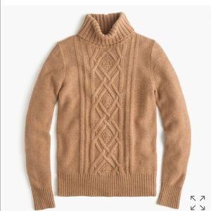 J. Crew Cambridge Cable Turtleneck Sweater XS
